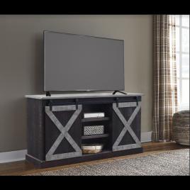 Brown/Grey Barn Door TV Stand